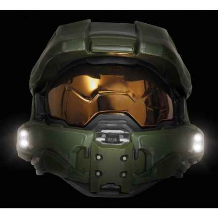Child and Adult Sizes Master Chief Full Light-Up Halo Helmet Accessory