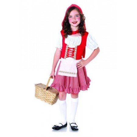 Lil Miss Red Girls Child Red Riding Hood Costume